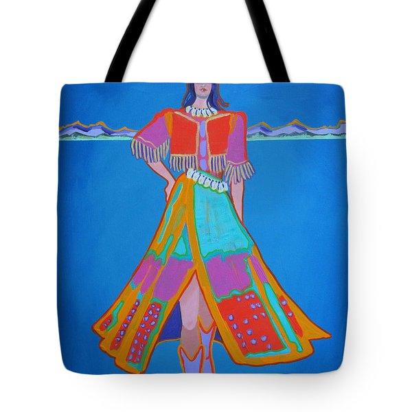 Santa Fe Girl  Tote Bag