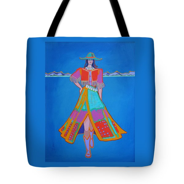 Santa Fe Girl  Tote Bag