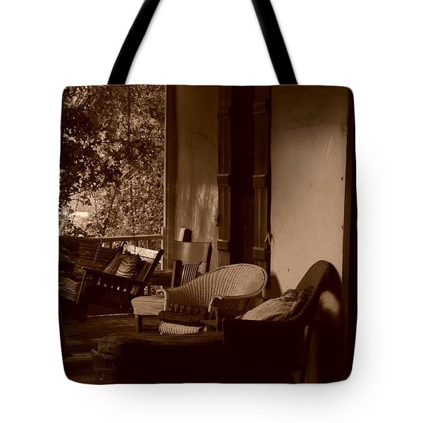 Tote Bag featuring the photograph Santa Fe Porch by Susie Rieple