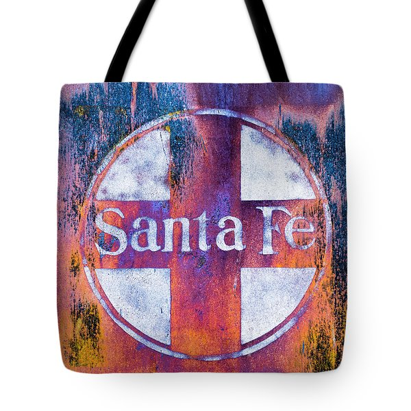 Tote Bag featuring the photograph Santa Fe Rr by Lou Novick