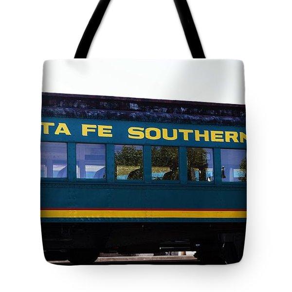 Tote Bag featuring the photograph Santa Fe Train by Joseph Frank Baraba
