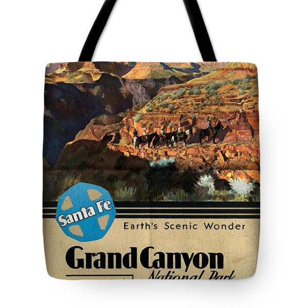 Santa Fe Train To Grand Canyon - Vintage Poster Folded Tote Bag