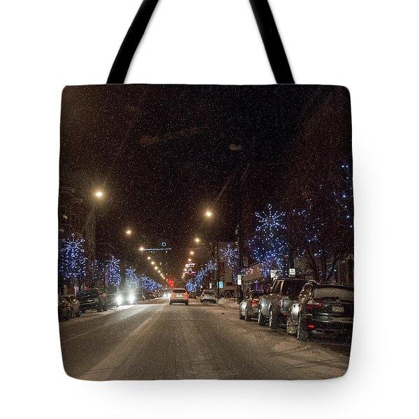 Santa Visits Bradford Tote Bag
