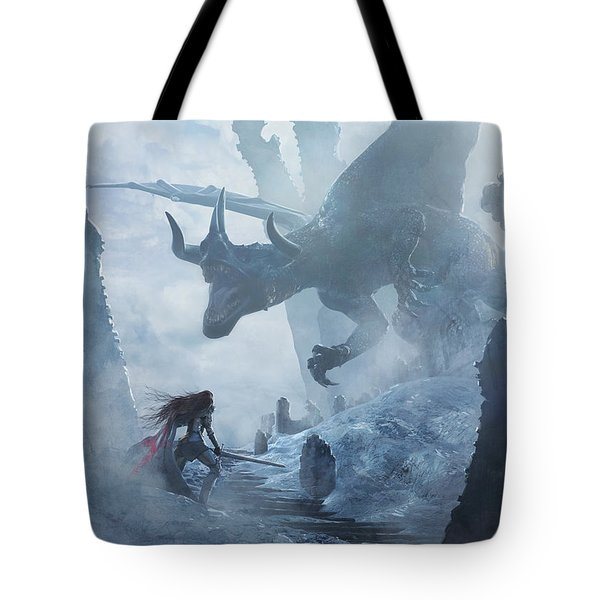 Santa Georgina Vs The Dragon Tote Bag