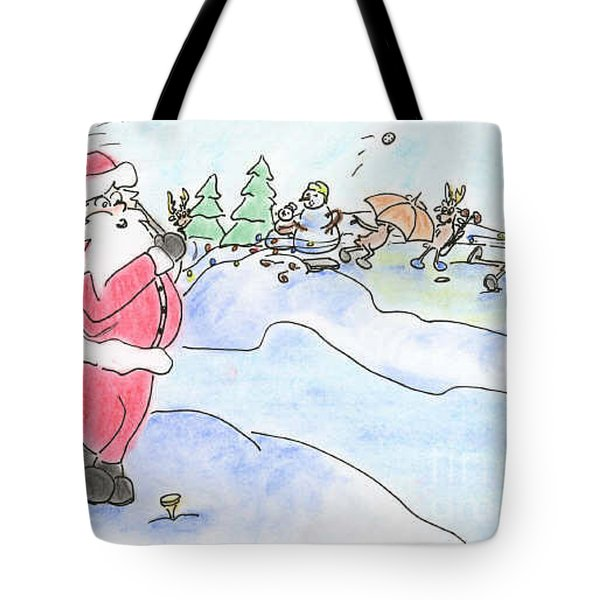 Santa Golf Tote Bag by Vonda Lawson-Rosa