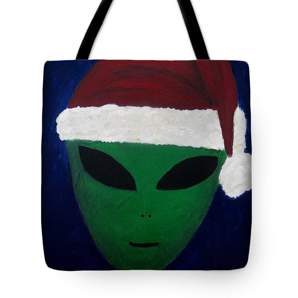 Tote Bag featuring the painting Santa Hat by Lola Connelly