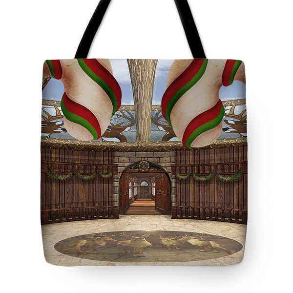Santa House Tote Bag