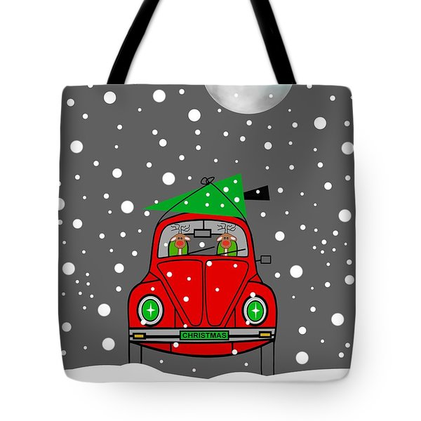 Santa Lane Tote Bag by Kathleen Sartoris