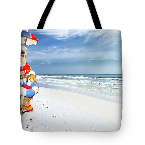 Santa Lifeguard Tote Bag