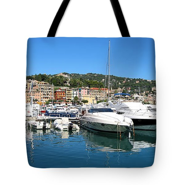 Santa Margherita Ligure Panoramic Tote Bag by Adam Romanowicz