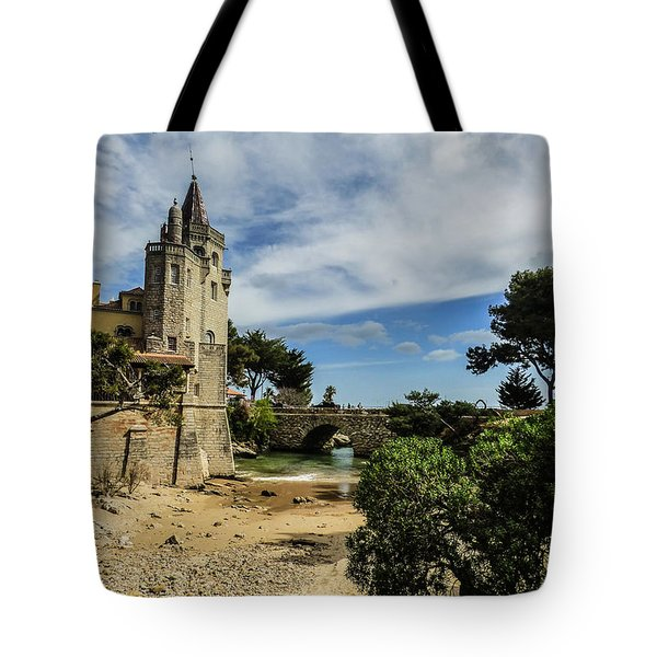 Santa Marta Beach In Cascais, Portugal Tote Bag
