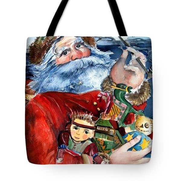 Santa Tote Bag by Mindy Newman
