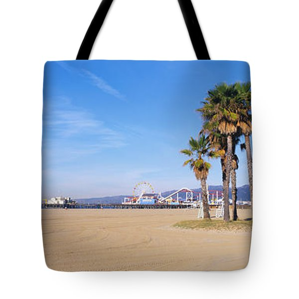 Santa Monica Beach Ca Tote Bag by Panoramic Images