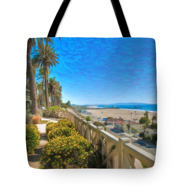 Santa Monica Ca Palisades Park Bluffs Gold Coast Luxury Houses Tote Bag