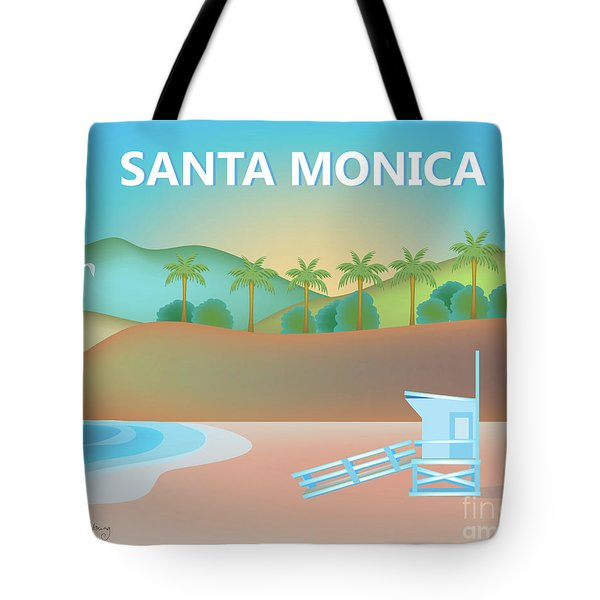 Santa Monica California Horizontal Scene Tote Bag