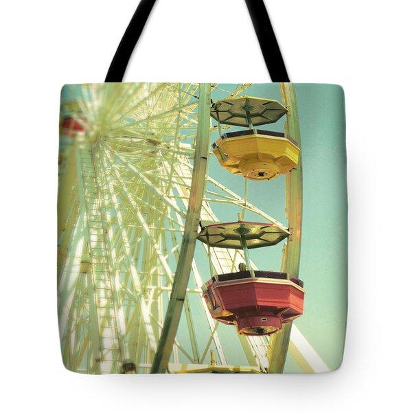 Santa Monica Ferris Wheel Tote Bag