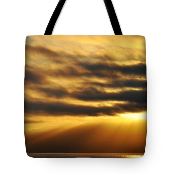 Tote Bag featuring the photograph Santa Monica Golden Hour by Kyle Hanson