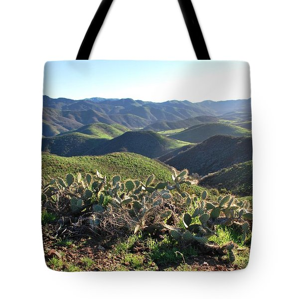 Santa Monica Mountains - Hills And Cactus Tote Bag