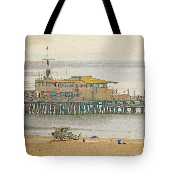 Tote Bag featuring the digital art Santa Monica Pier by Anthony Murphy
