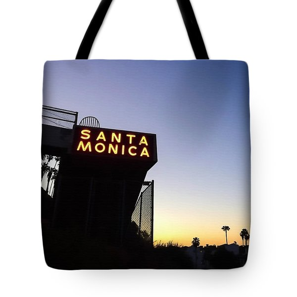 Santa Monica Sunrise Tote Bag