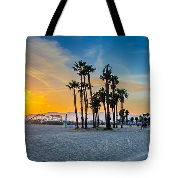 Santa Monica Sunset Tote Bag