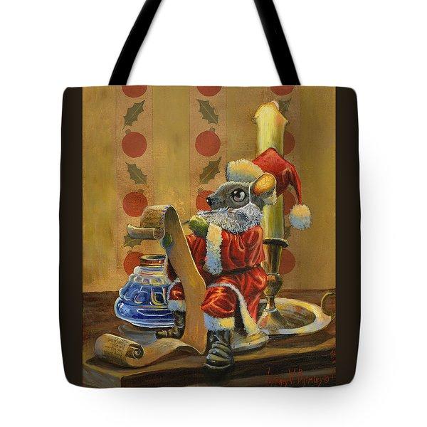 Santa Mouse Tote Bag by Jeff Brimley