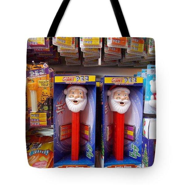 Santa Pez Tote Bag