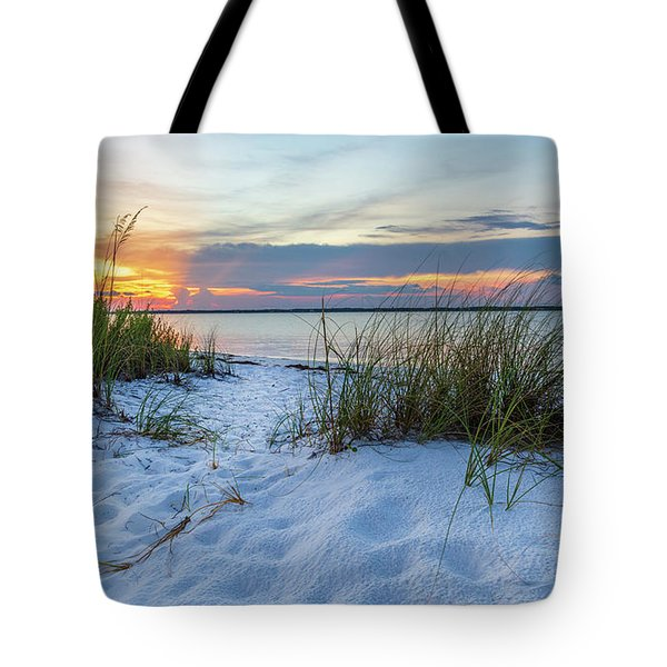 Santa Rosa Sound Sunset Tote Bag