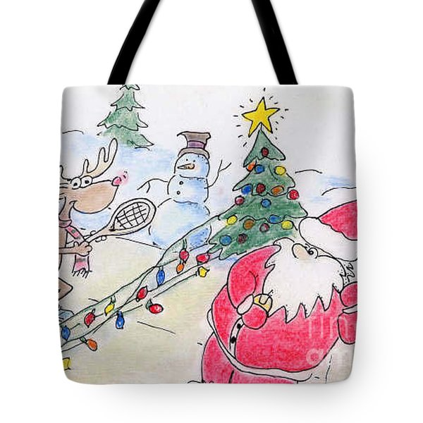 Santa Slam Tote Bag by Vonda Lawson-Rosa