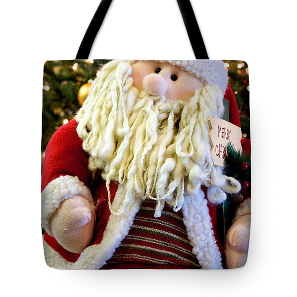 Tote Bag featuring the photograph Santa Takes A Seat by Vinnie Oakes