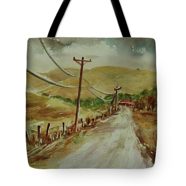 Tote Bag featuring the painting Santa Teresa County Park California Landscape 3 by Xueling Zou