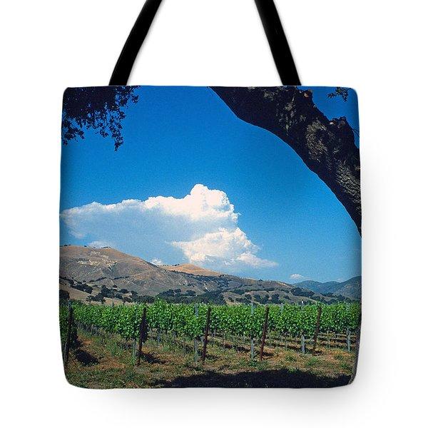 Santa Ynez Vineyard View Tote Bag by Kathy Yates