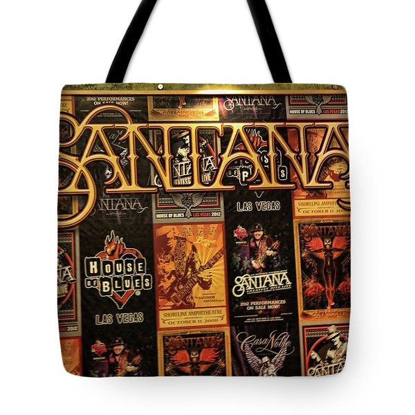 Santana House Of Blues Tote Bag