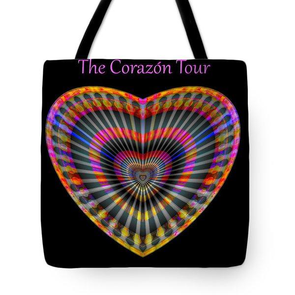 Tote Bag featuring the digital art Santana The Corazon Tour by Visual Artist Frank Bonilla