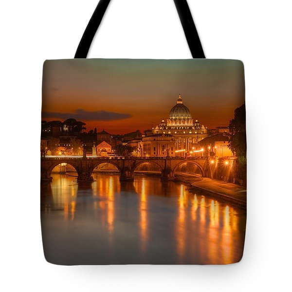 Sant'angelo Bridge Tote Bag