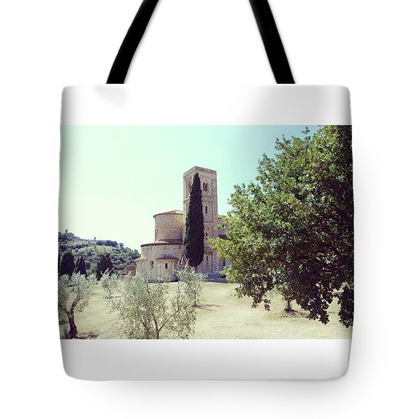 Abbey Of Sant'antimo Tote Bag