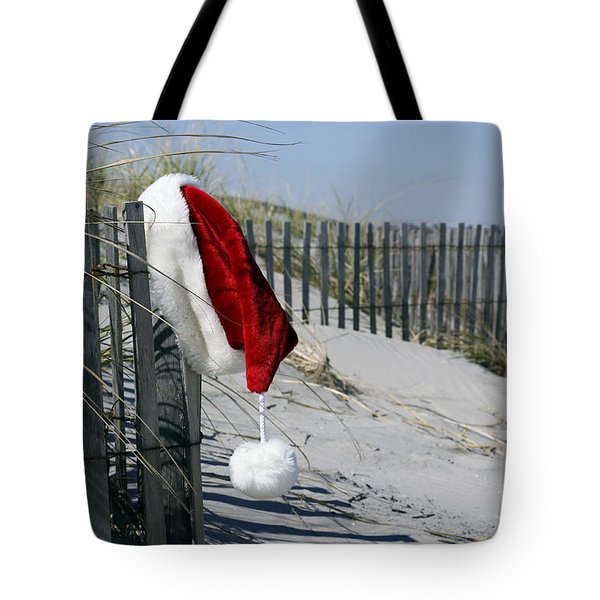 Tote Bag featuring the photograph Santa's Beach by Denise Pohl