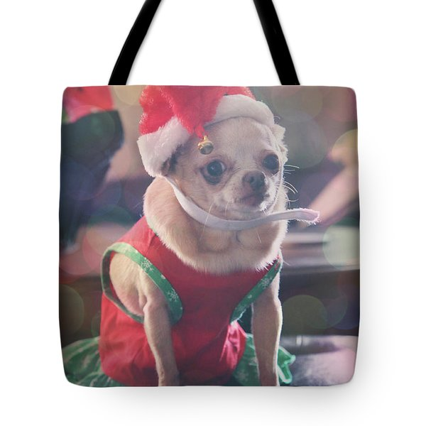 Tote Bag featuring the photograph Santa's Little Helper by Laurie Search