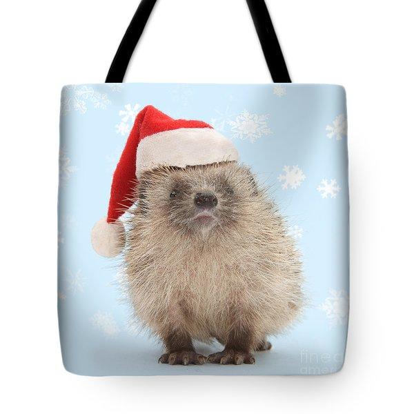 Santa's Prickly Pal Tote Bag
