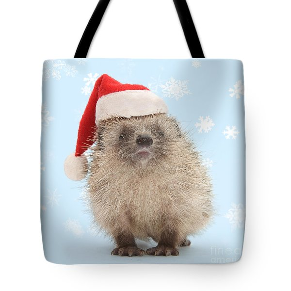 Santa's Prickly Pal Tote Bag