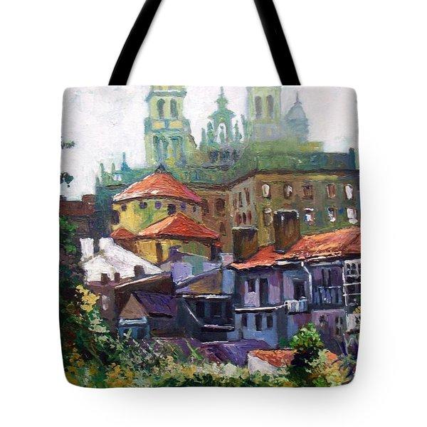 Santiago  Spain Tote Bag by Paul Weerasekera