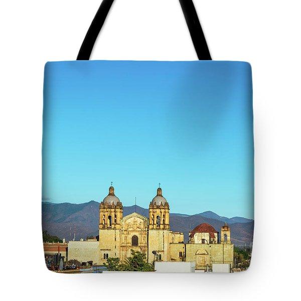 Santo Domingo Church And Hills Tote Bag