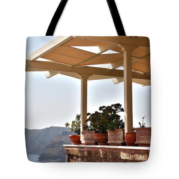 Santorini, Greece - Restaurant Tote Bag