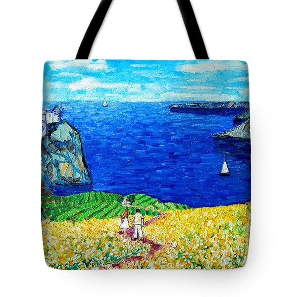 Santorini Honeymoon Tote Bag by Ana Maria Edulescu