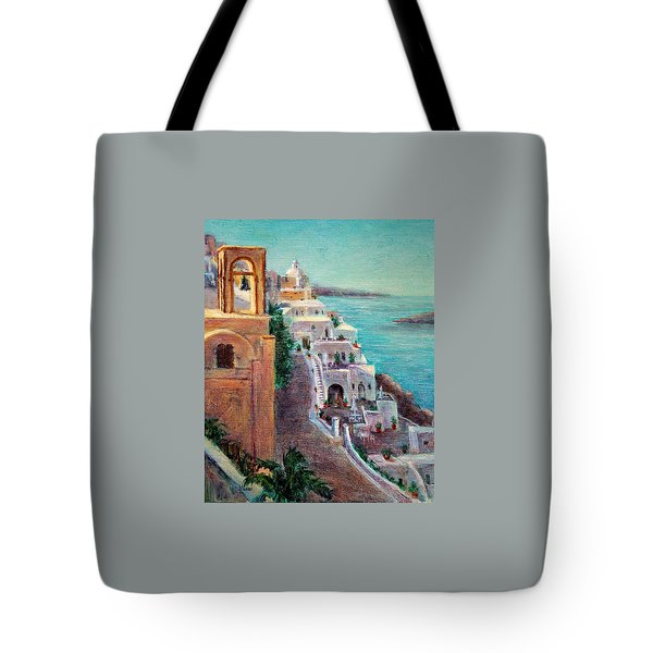 Hotels Of Santorini Tote Bag