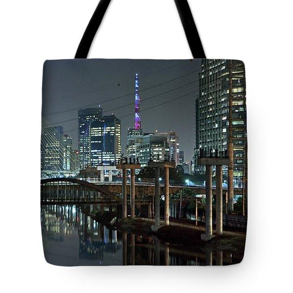 Sao Paulo Bridges - 3 Generations Together Tote Bag