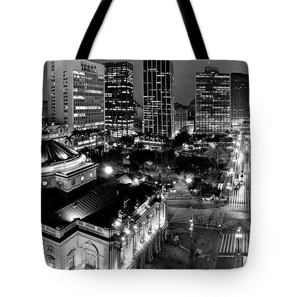 Sao Paulo Downtown - Viaduto Do Cha And Around Tote Bag