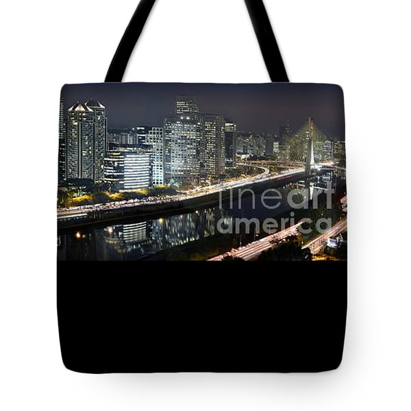 Sao Paulo Iconic Skyline - Cable-stayed Bridge  Tote Bag