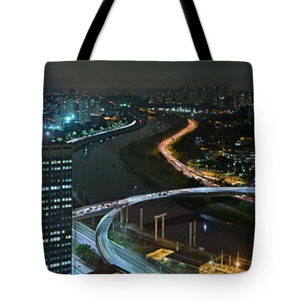 Sao Paulo Skyline Modern Corporate Districts Brooklin Morumbi Chacara Santo Antonio Tote Bag
