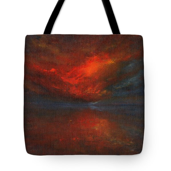 Sapphire Sunset Tote Bag by Jane See